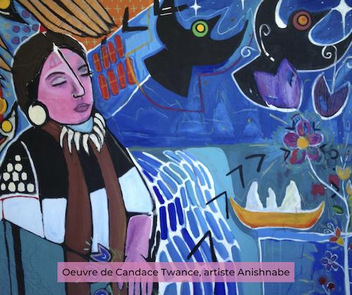 Oeuvre de Candace Twance, artiste Anisnabe